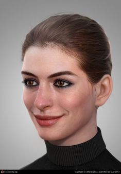 Portrait - CGFeedback. Modeled in Zbrush and Maya, rendered in Mental Ray.