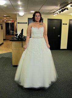 Season 7 Featured Dresses, Part 7. Diana. Dress info: Judd Waddel. Ivory. Alencon lace and tulle. Ballgown. Strapless with modified sweetheart neckline. Scalloped edging along neckline.Drop waist. Full lace bodice that fades out to tulle skirt. Beaded belt. Full skirt. $3,960.00. #Weddings #SYTTD.