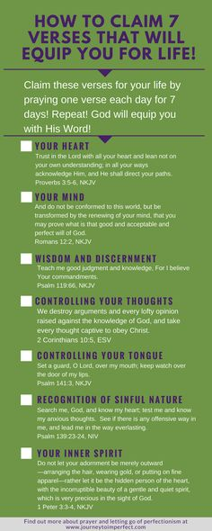 It is a common misconception that praying for ourselves is a selfish thing to do. Join me in overcoming that lie from the enemy as we learn how to claim 7 verses that will equip us for living a godly life!} via Bible verses Prayer Times, Prayer Verses, Bible Prayers, Bible Scriptures, Bible Quotes, Stress Scriptures, Pray Quotes, Prayer Board, Prayer Warrior
