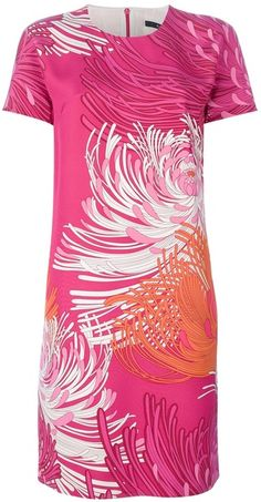 Printed Dress - Lyst