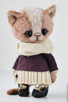 Teddy toy Kitten   Купить Кошечка Тесс - тедди, друзья тедди, друзья мишек тедди, кошка, кошечка