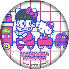 缶バッジ(おそ松×ハローキティ) 500 円(税込)