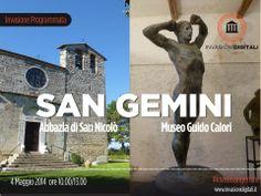 SAN GEMINI: il MUSEO CALORI e l'ABBAZIA DI SAN NICOLO' | INVASIONI DIGITALI #invasionidigitali #invadisangemini #digitalinvasions