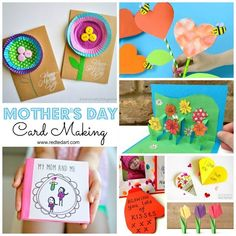 My Top Mother's Day Card ideas for kids to make. Adorable Mother's Day Cards for kids of all ages. Whether you are looking for handprint cards or LOVE cards.. here are some gorgeous DIY Cards that Mom will Love #mothersday #mom #cards #cardmaking #giftideas
