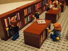 Lego library stacks