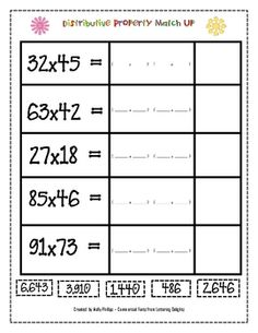 multiplication division on pinterest distributive property multiplication and long division. Black Bedroom Furniture Sets. Home Design Ideas