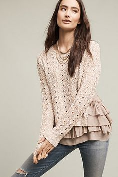 Recouvrir Sweater #anthropologie add godets to texured Tangs top
