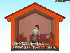 【効果】暑い(外装)夏の暑い日射を効率よく反射---GAINA