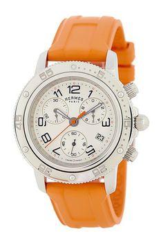 Hermes Men's/Unisex Clipper Chrono Stainless Steel Strap Watch by Donald E. Gruenberg Inc. on @HauteLook