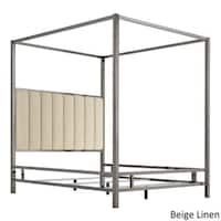 Natasha Modern and Contemporary Platform Canopy Bed - Overstock - 31227065 - King Metal Canopy Bed, Canopy Bed Frame, Fabric Canopy, Canopy Tent, Canopy Bedroom, Backyard Canopy, Garden Canopy, Canopy Lights, Canopy Outdoor