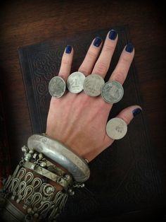 Banjara Coin Ring Old Rupee Coin Ring India Coin Jewelry Mens Ring Gypsy Ring…