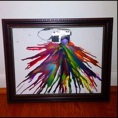 """A picture is worth 1,000 words"" melted crayon art creation"