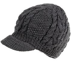 90b21aa3620 Nirvanna Designs Round Cable Cap with Visor andFleece