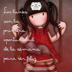 ¡¡Feliz Lunes!!  #gorjuss #santoro #felizlunes #frasedeldia
