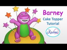 Cake Topper Tutorial, Cake Toppers, Barney Cake, Barney & Friends, Icing, Cake Decorating, Board, Youtube, Character