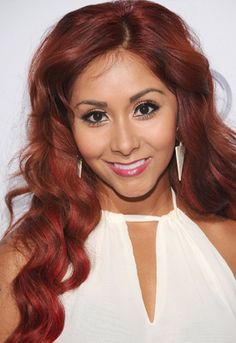 Snooki's vibrant red hair