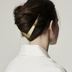 Gold-Haar-Accessoires sind jetzt im Trend Trend Frisuren Stil Gold hair accessories are now in trend trend hairstyles style Hair Day, My Hair, Night Hair, Natural Hair Styles, Long Hair Styles, Hair Clip Styles, Hair Jewelry, Jewellery, Gold Jewelry