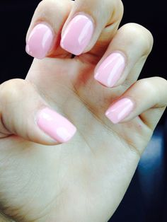 Got my nails redone ☺️ Baby-doll pink for summer!