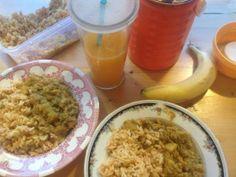 Sesam-Limetten-Reis mit Kartoffel-Linsen-Curry