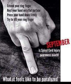 September spinal cord injury month                                                                                                                                                      More