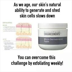 You will see a whole new difference with your face just by exfoliating! This stuff is my favorite! Add this to your skin care routine, no matter what other products you're using. $80 for Rodan + Fields Microdermabrasion Scrub...it will last close to 1 year (at least)!! Makes for a great gift too:) meg.ford28@gmail.com // meganlunsford.myrandf.com to check out all we offer!