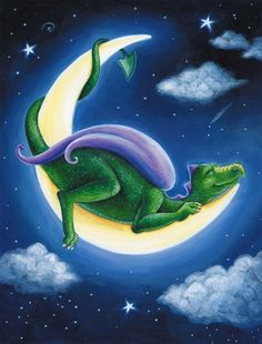 Dragon Moon Wall Mural for Child's Room