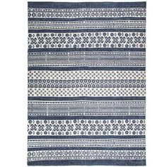 Get Blue & White Patterned Cotton Rug online or find other Accent Pieces products from HobbyLobby.com