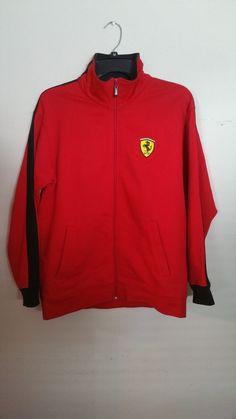 Ferraridesign Ferrari Red Shield Fleece Jacket Size Small Https T