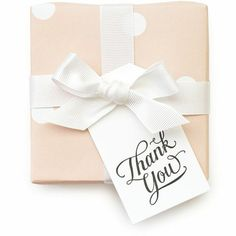 Our Thank You gift tags are letterpress printed in black ink and delicately diecut in our signature tag shape. Ribbon not included. 10 tags. dimensions: 3.5 x 2 inches Made by Sugar Paper LA