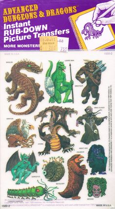 Advanced Dungeons And Dragons Picture Transfers, 1981 Dungeons And Dragons Art, Advanced Dungeons And Dragons, Dungeons And Dragons Miniatures, Pen And Paper Games, Classic Rpg, Dragon Pictures, Sword And Sorcery, Fantasy Monster, Fantasy Rpg