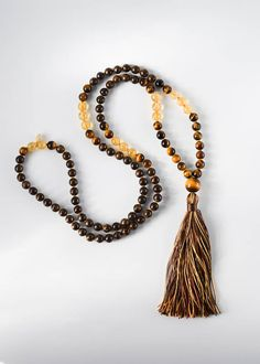 """MANTRA: """"PROTECT MY LIGHT, SAFEGUARD MY SPIRIT"""" INSPIRATION In the moments where you feel like the balance of negative and positive energy is off kilter and you need an extra layer of protection from the negative, The Guardian Mala will provide a comforting shield from all that is"""