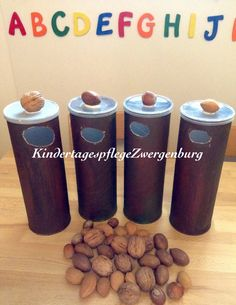 Sort nuts Sort nuts Best Picture For Montessori Materials grundschule For Your Taste You are looking for something, and it is going to tell you exactly wha Diy For Kids, Crafts For Kids, Fall Preschool Activities, After School Club, Forest School, Autumn Crafts, Montessori Materials, Numeracy, Kids Education