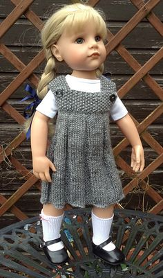 Knitted American Girl doll jumper. Looks fast and easy.