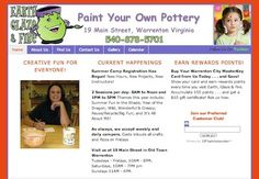 Retail Websites - http://www.earthglazefire.com - Earth, Glaze & Fire is a paint your own pottery studio in Warrenton, Virginia.  Their WordPress website has given them more visibility in the local marketplace and generated more business from people who could not find the studio information or phone number online previously.  For more information about WordPress website design and development services for your retail shop, visit http://www.herbstmarketing.com