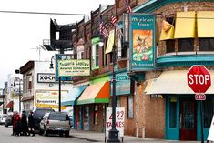 Mexicantown, located on Bagley, both on the east and west sides of the Interstate 75 service drive, and along Vernor. Mexicantown is the fastest growing neighborhood in Detroit. It is particularly popular for its Mexican cuisine. The neighborhood will soon include the Mexicantown International Welcome Center, and the Mercado, which will house 85 shops.