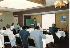 Dr. David M. Carnrike speaks to a group of ministers