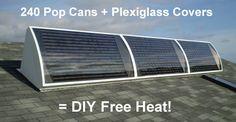 diy-project-free-heat Renewable Energy, Solar Energy, Solar Power, Wind Power, Power Pop, Sustainable Energy, Sustainable Living, New Energy, Save Energy