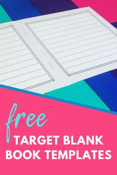 """So you raided the Target Dollar Spot and stocked up on some blank books for your classroom. Now what? I love the blank books almost as much as my students do. I use them for almost every final draft writing project, and my students get so excited about """"publishing"""" books. It truly increases motivation and engagement, and I always love the final products!"""