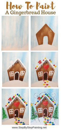 Canvas Painting Tutorials, Easy Canvas Painting, Painting For Kids, Diy Painting, Acrylic Canvas, House Painting, How To Paint Canvas, Learn Painting, Paint And Sip