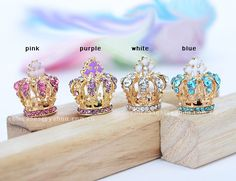 phone charm,phone plug,anti dust plug for 3.5mm earphone plug -- diamond crown 4 colors for choose via Etsy