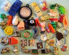 Vintage Cracker Jack & Gumball Machine Charms  by socal72girl, via Flickr