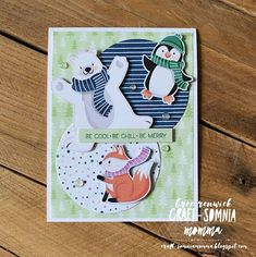 Freshly Made Penguin Pals Penguins, Chill, Merry, Holiday Fun, Holiday Cards, Tree Patterns, Winter Cards, Winter Fun, Crafts