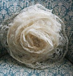 Gosh, if only she had time for the Lace Flower Pillow Tutorial - she'd rather buy it from YOU!