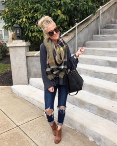 """632 Likes, 13 Comments - Amanda + Michelle (@thestyledduo) on Instagram: """"Out and about with my hubby on this chilly fall day and this was my version of bundling up …"""""""
