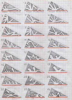 Snowflake - Moldes para cortar em papel flocos de neve                                                                                                                                                      Mais