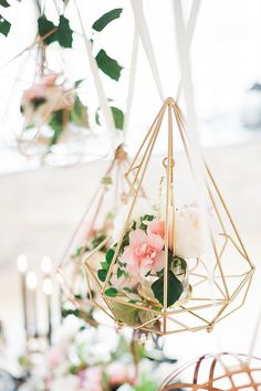 Geometric floral display
