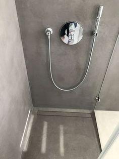 Beton Cire Badezimmer Nassbereich Wasserfest Fugenlos Pomysł - Beton putz auf fliesen
