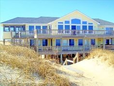 Oceanfront Home W/Pool, Spa, Gameroom on Secluded  Obx Beach