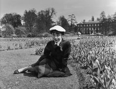 """You've Never Seen These Rare Photos of Audrey Hepburn Before: Audrey Hepburn poses for photographer Bert Hardy in the spring of 1950 in London's famous Kew Gardens and Richmond Park for """"Picture Post"""", a prominent UK photo magazine. ~ Photo by Bert Hardy."""