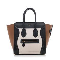 Celine Tricolor Micro Luggage Tote  c00e6139470e1